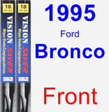 Front Wiper Blade Pack for 1995 Ford Bronco - Vision Saver