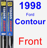 Front Wiper Blade Pack for 1998 Ford Contour - Vision Saver