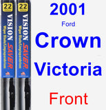 Front Wiper Blade Pack for 2001 Ford Crown Victoria - Vision Saver