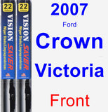 Front Wiper Blade Pack for 2007 Ford Crown Victoria - Vision Saver