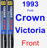 Front Wiper Blade Pack for 1993 Ford Crown Victoria - Vision Saver