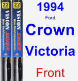 Front Wiper Blade Pack for 1994 Ford Crown Victoria - Vision Saver