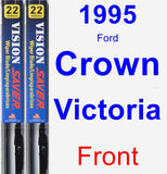 Front Wiper Blade Pack for 1995 Ford Crown Victoria - Vision Saver