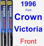 Front Wiper Blade Pack for 1996 Ford Crown Victoria - Vision Saver