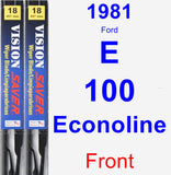 Front Wiper Blade Pack for 1981 Ford E-100 Econoline - Vision Saver
