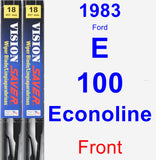 Front Wiper Blade Pack for 1983 Ford E-100 Econoline - Vision Saver