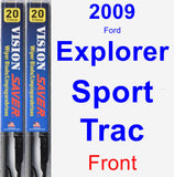 Front Wiper Blade Pack for 2009 Ford Explorer Sport Trac - Vision Saver