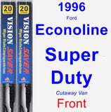 Front Wiper Blade Pack for 1996 Ford Econoline Super Duty - Vision Saver