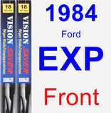 Front Wiper Blade Pack for 1984 Ford EXP - Vision Saver