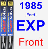 Front Wiper Blade Pack for 1985 Ford EXP - Vision Saver