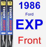 Front Wiper Blade Pack for 1986 Ford EXP - Vision Saver