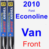 Front Wiper Blade Pack for 2010 Ford Econoline Van - Vision Saver