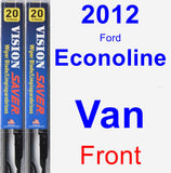 Front Wiper Blade Pack for 2012 Ford Econoline Van - Vision Saver