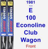 Front Wiper Blade Pack for 1981 Ford E-100 Econoline Club Wagon - Vision Saver