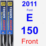 Front Wiper Blade Pack for 2011 Ford E-150 - Vision Saver
