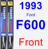 Front Wiper Blade Pack for 1993 Ford F600 - Vision Saver