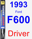 Driver Wiper Blade for 1993 Ford F600 - Vision Saver