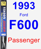 Passenger Wiper Blade for 1993 Ford F600 - Vision Saver