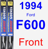 Front Wiper Blade Pack for 1994 Ford F600 - Vision Saver