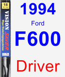 Driver Wiper Blade for 1994 Ford F600 - Vision Saver