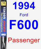 Passenger Wiper Blade for 1994 Ford F600 - Vision Saver