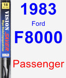 Passenger Wiper Blade for 1983 Ford F8000 - Vision Saver