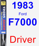 Driver Wiper Blade for 1983 Ford F7000 - Vision Saver