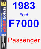 Passenger Wiper Blade for 1983 Ford F7000 - Vision Saver