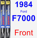 Front Wiper Blade Pack for 1984 Ford F7000 - Vision Saver