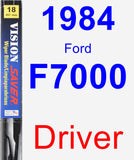 Driver Wiper Blade for 1984 Ford F7000 - Vision Saver