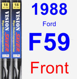 Front Wiper Blade Pack for 1988 Ford F59 - Vision Saver