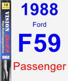 Passenger Wiper Blade for 1988 Ford F59 - Vision Saver