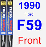 Front Wiper Blade Pack for 1990 Ford F59 - Vision Saver