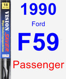 Passenger Wiper Blade for 1990 Ford F59 - Vision Saver