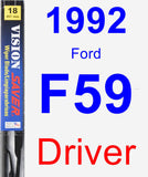 Driver Wiper Blade for 1992 Ford F59 - Vision Saver