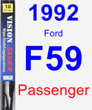 Passenger Wiper Blade for 1992 Ford F59 - Vision Saver
