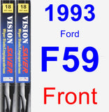 Front Wiper Blade Pack for 1993 Ford F59 - Vision Saver
