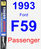 Passenger Wiper Blade for 1993 Ford F59 - Vision Saver