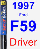 Driver Wiper Blade for 1997 Ford F59 - Vision Saver