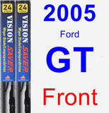 Front Wiper Blade Pack for 2005 Ford GT - Vision Saver