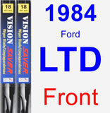 Front Wiper Blade Pack for 1984 Ford LTD - Vision Saver