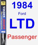 Passenger Wiper Blade for 1984 Ford LTD - Vision Saver