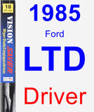 Driver Wiper Blade for 1985 Ford LTD - Vision Saver