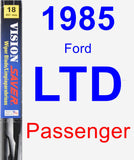 Passenger Wiper Blade for 1985 Ford LTD - Vision Saver