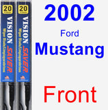 Front Wiper Blade Pack for 2002 Ford Mustang - Vision Saver