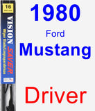 Driver Wiper Blade for 1980 Ford Mustang - Vision Saver