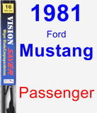 Passenger Wiper Blade for 1981 Ford Mustang - Vision Saver