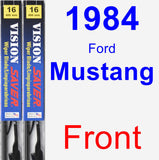 Front Wiper Blade Pack for 1984 Ford Mustang - Vision Saver