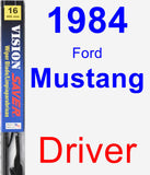 Driver Wiper Blade for 1984 Ford Mustang - Vision Saver