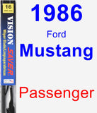 Passenger Wiper Blade for 1986 Ford Mustang - Vision Saver